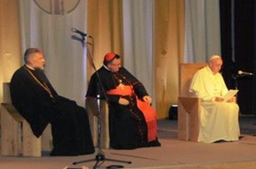 Поздрав епископа Григорија папи Фрањи у Сарајеву