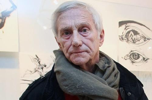 Povodom otvaranja izložbe Vladimira Veličkovića